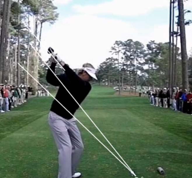 Perfect position at the top of the backswing