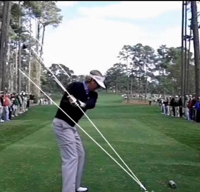 On Plane Halfway into the downswing